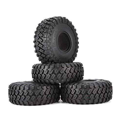 YNSHOU Accesorios de Juguete AX-7020 4 Uds 1,9 Pulgadas 122mm 1/10 neumáticos de Goma para orugas de Roca para D90 TRX4 SCX10 AXIAL TF2 RC Accesorios de Coche