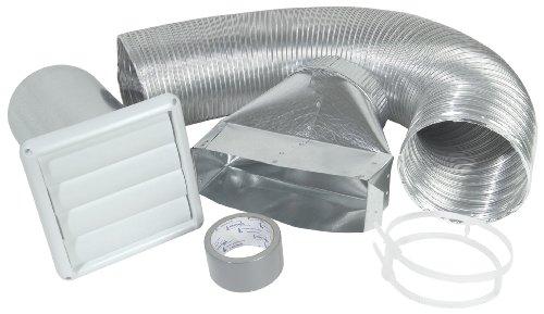 Imperial 6' Louvered/Semi-Ridgid Aluminum Range Hood Wall Vent Kit, White, VT0170
