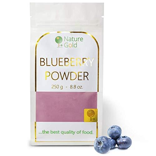 BLAUBEEREN Pulver | Gefriergetrocknetes Wilde Heidelbeerpulver | 250 g 8.8 oz | 100% Naturnah | für Veganer ohne Zucker ~*~