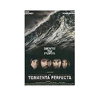 映画ポスターパーフェクトストームウォールアートデコレーションペインティングキャンバスプリントポスターベッドルームデコレーションペインティング12×18インチ(30×45cm)