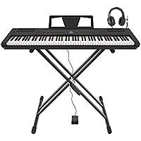 Piano de Escenario STP-3 de Gear4music + Soporte Pedal y Auriculares
