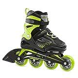 Bladerunner by Rollerblade Phoenix Boys Adjustable Fitness Inline Skate, Black and Green, Junior, Value Performance Inline Skates, 5-8