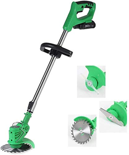 Best Prices! REWD String Trimmers Adjustable Wireless Grass Trimmer Rechargeable Electric Garden Pus...