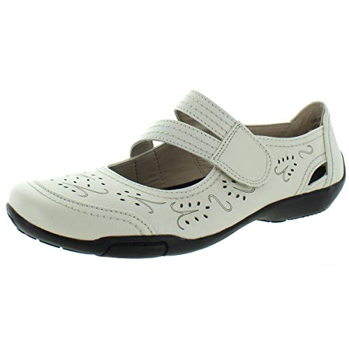 Ros Hommerson Chelsea 62005 Women's Casual Shoe: Winter/White Leather 11 Medium (B) Velcro