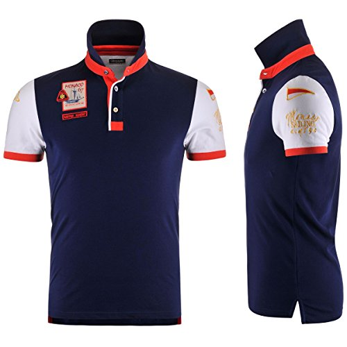 Kappa Polo Shirts - Monaco Polo - Blue Marine-White - L