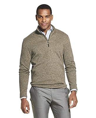 Van Heusen Men's Flex Long Sleeve 1/4 Zip Soft Sweater Fleece, HIGH RISE, Medium by Van Heusen