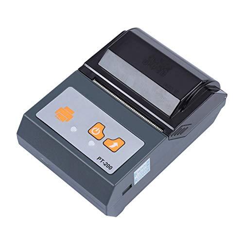 Stampante termica, mini stampante portatile Bluetooth 58mm portatile, di piccole dimensioni e leggera, facile da trasportare, supporto controllo smart phone, adatto per supermercati, centri commercial