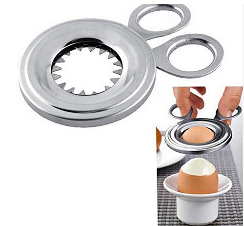 HJ エッグカッター 卵割り器 殻剥き器 卵オープナー キッチンはさみ ステンレス (1個セット)