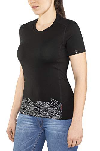 Odlo T-Shirt à col Rond Alliance pour Femme - Imprimé Feuilles sur la Taille - SS19 - XS