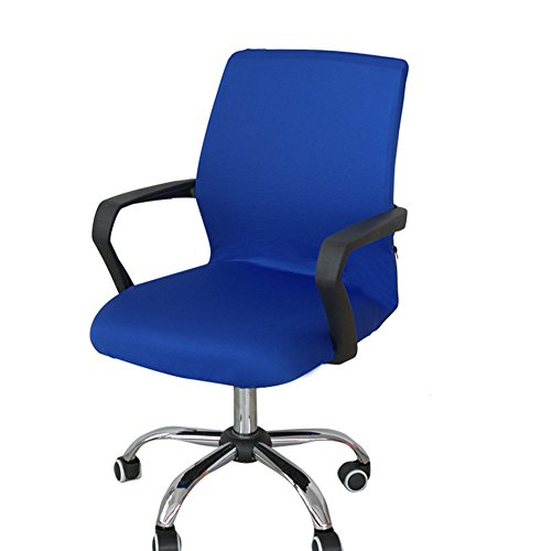 Funda para silla de escritorio de Zyurong, extraíble, lavable, protección para tu silla de oficina, giratoria y de escritorio, tamaño S (solo incluye la funda), azul, Small
