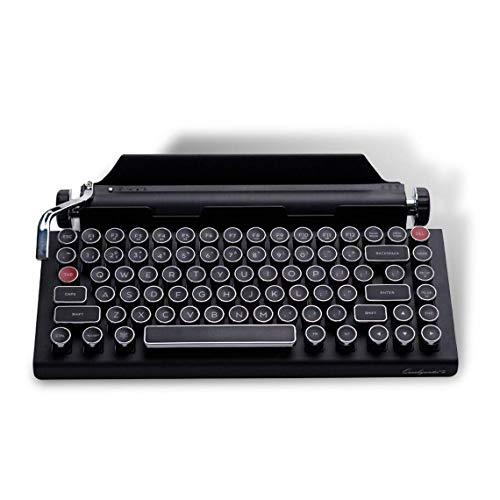 ldy JinZao Qw-erkywriter S Retro Typewriter Keyboard, Wireless Mechanical Bluetooth Keyboard 84-Key Cherry Green Axis para Windows/Android/iOS/MacOS