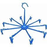 洗濯 物干し ハンガー マイランドリー2 ミニ パラソル ブルー 10本 竿 ロープ カモイ キャッチフック