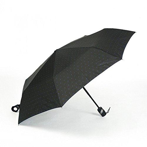 小宮商店 自動開閉 耐風晴雨兼用傘 グラス骨 UVカット率99% 耐風 折JP 兼用日傘 クロスドット柄 (グレー)