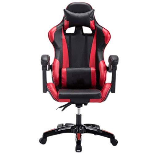N/Z Living Equipment Gaming Stuhl Racing Office Computerspiel Stuhl Ergonomische Rückenlehne und Sitzhöhenverstellung Recliner Drehbare Wippe mit Kopfstütze und Lendenkissen E Sportstuhl (Farbe: C)