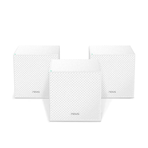 Oferta de Tenda Nova Mesh WiFi MW12 - AC2100 Router Inteligente 5GHz para Todo el Hogar (Amplificador WiFi, Tri-Band hasta 500m², 120 Dispositivos, 2 Gigabit, Adecuado para Gaming, HD TV y Alexa, 3 Unidades)