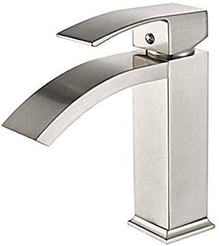 HYY-YY Taps for Kitchen Sink Matte Black Single Handle Bathroom Sink Faucet One Hole Deck Mount Lavatory Mixer Tap Wash Basin Faucet Brass Gold/Silver/Black/Ceramic/Chrome