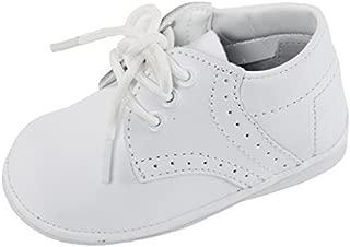 iGirlDress Angels Garments Baby Boys White Oxford Christening Shoes Size 4