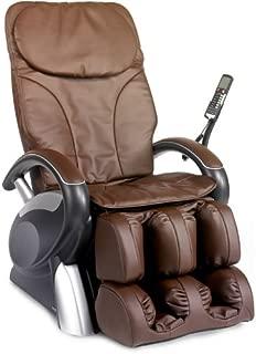 6020 Robotic Shiatsu Reclining Massage Chair Upholstery: Brown