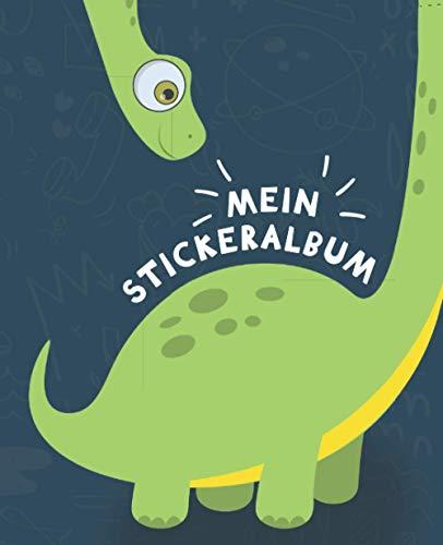 Mein Stickeralbum: Sticker-Sammelalbum für Kinder aus Spezialpapier, matt glänzendo | Geschenk | Dinosaurier