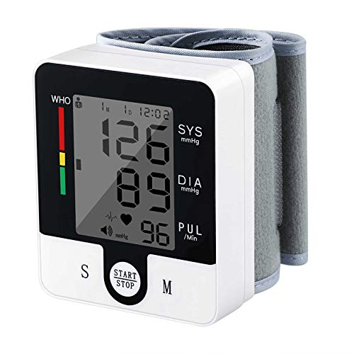 Wrist Blood Pressure Monitor, Wrist Cuff Monitor Automatic Digital Adjustable Home Use BP Blood Pressure Machine (Black)