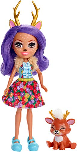 Enchantimals - Danessa Deer y Sprint, muñeca con mascota (Mattel FXM75) , color/modelo surtido