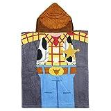 Cerdá Toalla Poncho Infantil con Capucha de Woody Playa, Multicolor, 50 x 115 cm