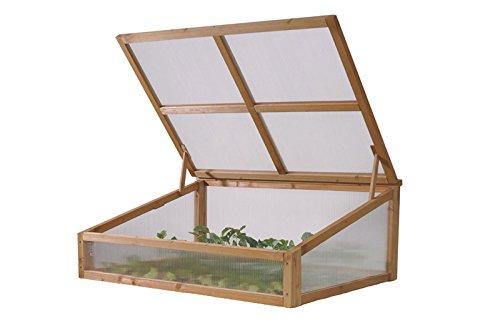 VegTrug Praktisches Hochbeet Small Frühbeetaufsatz, hochwertigem FSC-Zedernholz, ca. 105 x 76 x 45,5 cm, Gemüsebeet Pflanzenschutz, Erweiterung, pflegeleicht, stabil, witterungsbeständig
