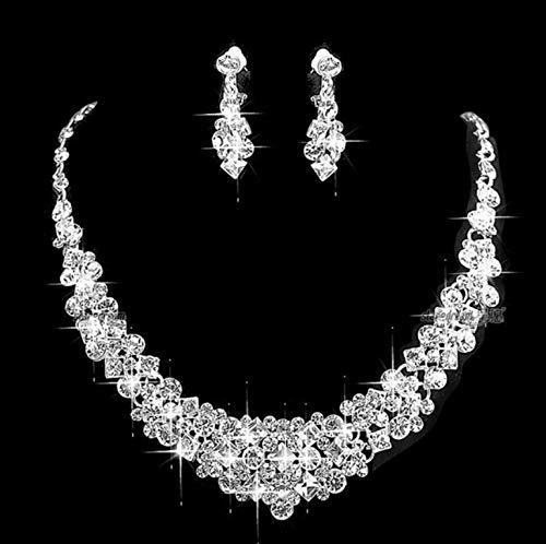 Set Di Gioielli Gioielli Da Donna Collana Di Perle Orecchini Set Di Zirconi Di Cristallo Set Di Gioielli Da Sposa