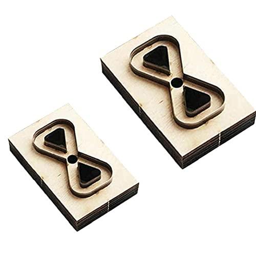 Heall Molde de Corte de Cuero, DIY Die de Madera Molde de Cuero Punch Punch Fabricación de la Herramienta de Molde para la joyería del Pendiente 2 unids