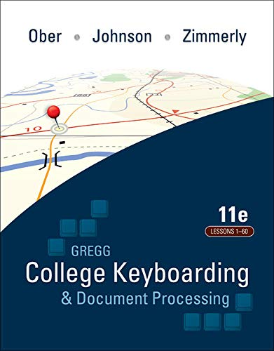 Compare Textbook Prices for College Keyboarding and Document Processing 11th Edition ISBN 9780077356606 by Scot Ober
