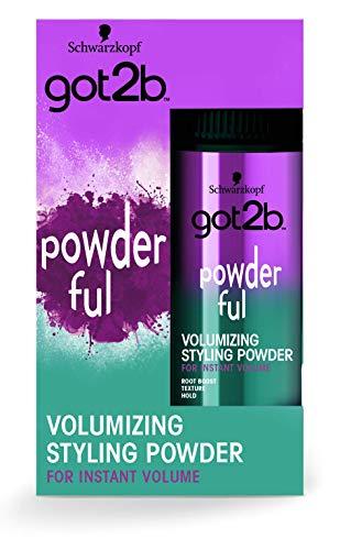 Got2b - Polvos volumen POWDER'ful – Polvos para levantar la raíz – Textura matificante – Lleva tu volumen a nuevas dimensiones