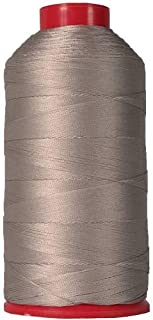 Threadart Heavy Duty Bonded Nylon Thread - 1650 yards (1500m) - Coated No Unravel - #69 T70 Size 210D/3 - For Upholstery, Leather, Vinyl, Weaving Hair, Denim, and Other Heavy Fabric - 26 Colors Available - Silver