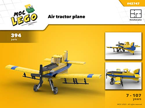 Air tractor plane (Instruction Only): MOC LEGO (English Edition)