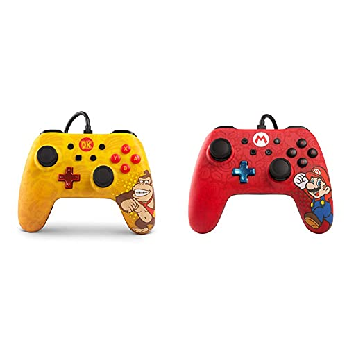 Manettes pour console Nintendo Switch iConic - Donkey Kong & Manette pour Nintendo Switch iConic- Mario