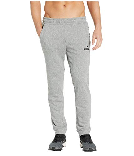 PUMA Men's Amplified Pants French Terry, Medium Gray Heather, X-Large