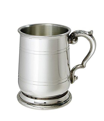 Wentworth Pewter - Half Pint Jacobean Pewter Tankard, Beer Mug