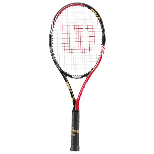 WILSON Herren Tennisschläger Six.One Team BLX, schwarz-rot-Gold, Griffstärke 2, WRT7004002