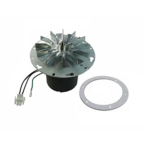 """Whitfield Advantage & Breckwell Exhaust Combustion Motor, 6"""" Mounting Hub, 12056010, 12126009, 12156009, A-E-027, C-E-027 For Pellet Stoves"""