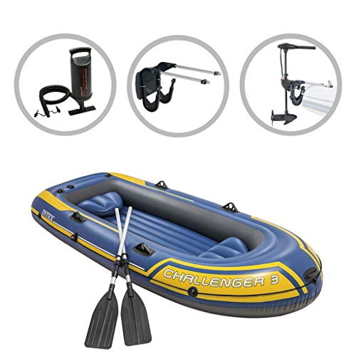 vidaXL Intext Schlauchboot Set Challenger 3 Firm mit Schleppmotor und Halterung