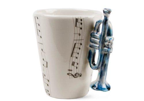 Trompete Geschenke, Kaffeetasse Handgefertigt von Blue Witch