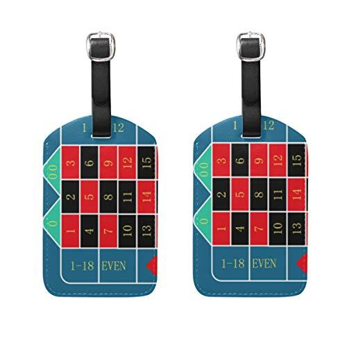 LINDATOP Roulette-Tisch für jedes Projekt, Gepäckanhänger, Taschen, Reiseetiketten für Gepäck, Koffer, 2 Stück