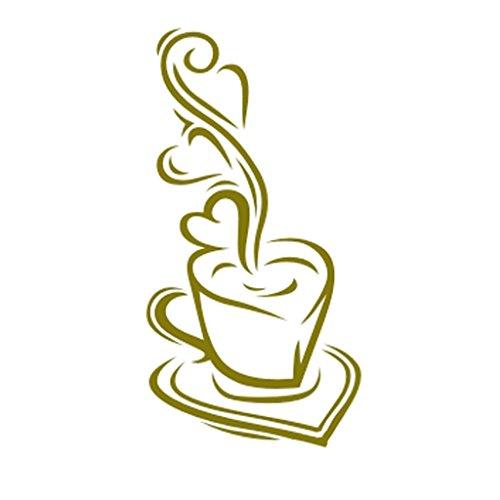 Pochoir de Peinture Murale Motif Tasse de Café Chaud Maison Art Décoration