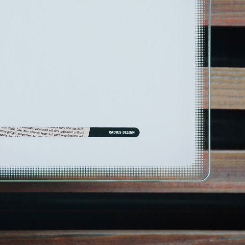 Radius Letterman 3 Edelstahl Glas weiss Briefkasten – 559 a - 4