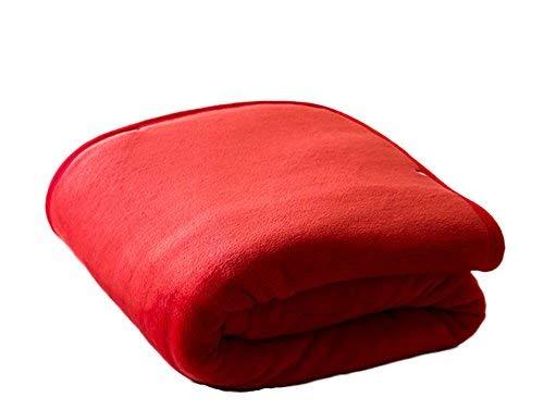 Crystallly Faule Deken Creatieve sjaal met knopen deken enkele kleine deken eenvoudige stijl kantoor kniedeken Home Travel Sofa Deken Las De plafond rode kleur 100 * 150 cm anti-koude kunst