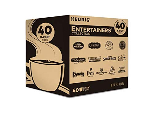 Keurig Entertainers Variety Pack Single-Serve Coffee K-Cup Pods Sampler, 40 Count