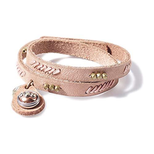 NOOSA PETITE Armband WABI SABI PEACEFULNESS soft pink - ohne Chunk Größe S