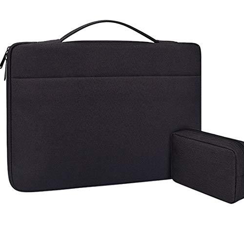 Laptop Tasche 15.6 Zoll Notebooktasche Aktentasche Tablet Tasche Schulter Umhängetasche Wasserabweisend Satchel Bussiness Laptoptasche für Frauen und Männer(mit kleiner Tasche),Schwarz,14.1inches