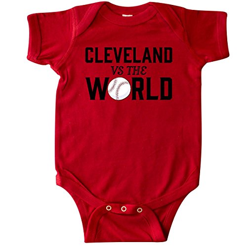 inktastic Cleveland Vs. The World with Baseball Infant Creeper 6 Months Red