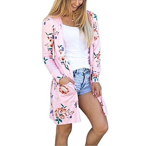 Landove Cardigan in Maglia Donna Boho Chic Maglione Maniche Lunghe Kimono Floreale Felpa Oversized Cappotto Allentato Casuale Giacca Jacket Outwear Magliette Autunno Ragazza