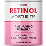 Anti-Wrinkle Retinol Cream for Face - Firming and Lifting Effect - Anti-Aging Face Moisturizer for Women and Men - Day and Night Neck, Double Chin, and Face Cream with Hyaluronic Acid - Made in Usa